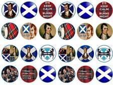 24 cake topper Burns night robbie burns scotland scot bun cupcake toppers party