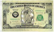 Million Dollar Bill Flag Money Banner Pennant Dollar Sign 3x5 Indoor Outdoor New