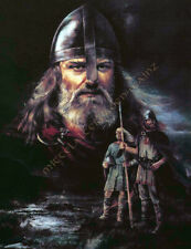 Wikinger Stoffbild Wikingertuch Stoff Poster Vikings Tuch Bild