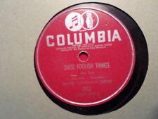 CANADA COLUMBIA 78 RECORD C912/BENNY GOODMAN/TILL TOM SPECIAL/ FOOLISH THINGS/EX