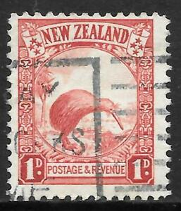 NEW ZEALAND 1936 1d P.13 1/2*14, used slogan cancel. SG 557b. Cat.£65.