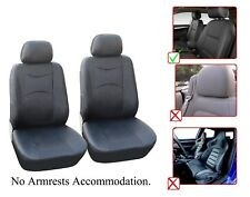 Vinyl Leather Two Front Car Seat Covers For Chevrolet- L1510 Black
