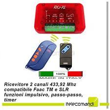 Ricevitore radio ricevente Nologo RX2XL 2 canali compatibile Faac TM e SLR