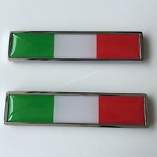 2x Italy National flag Chrome Metal Badge Decal Emblem Sticker For IT Luxury Car