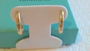 TIFFANY & Co. 18K Gold & Platinum .18TCW Diamond Etoile Hoop Earrings