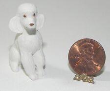 Dollhouse Miniature Dog White Poodle Falcon Minis 1:12 Scale