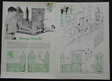 Medieval Toy Castle How-To build PLANS Great for Gaming