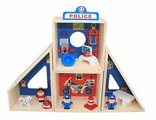 Wooden Police Station Pretend Play Set