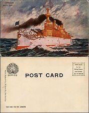 Post card illustrated, Oregon Battle ship, nuova