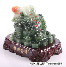 Feng Shui Resin Money Frog Three Legged Toad Stand For Wealth Luck