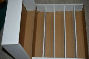 1 NEW Storage Cardboard Box For Baseball Or Sports Trading Card HOLDS 5000 CARDS