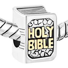 NEW Pandora Charms Beads Bracelet Religious Cross Prayer God Bible Christ Charm