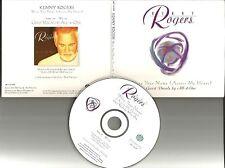 KENNY ROGERS w/ ALL 4 ONE Write your name PROMO DJ CD single w/ PRINTED LYRICS