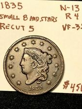 1835 large cent Small 8 And Stars n-13 rarity-4 scarcer variety nice piece