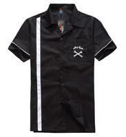 Men's, Rockabilly shirt, Hot Rod, Rock n roll, Tattoo, work shop.