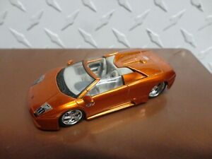 Loose Maisto Orange Chrome Lamborghini Murcielago Roadster w/Real Riders