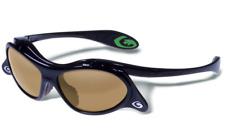 Baseball Softball Flip Up Sunglasses Black Gold Polarized Gargoyle Sports Strap