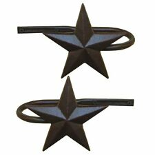 Rustic Metal Star Curtain Holdbacks