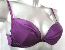SOUTIEN-GORGE PUSH-UP 85B 85 B 32B satin violet coussinets WONDERBRA femme NEUF