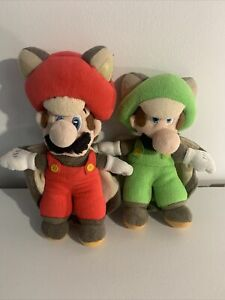 "Super Mario Bros Little Buddy Flying Squirrel Mario & Luigi Plush 9"""