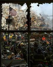 9/11 NYFD FIREFIGHTERS AT WORLD TRADE CENTER 8X10 PHOTO