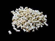 200 x 12mm Cream Wooden Tube Beads Craft Jewellery Wood A146