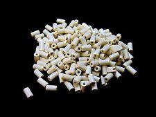 200 x 12mm Cream Wooden Tube Beads Craft Jewellery Wood A146