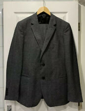 Reiss 'Marrow' Charcoal Grey Pure Wool Skin Fit Suit Size 42, Waist 32 Trousers