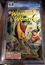 Wonder Woman #107 1959 CGC Graded 6.0 1st App Wonder Girl & Merboy Ronno Rare