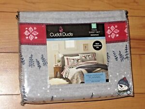 NWT CUDDL DUDS Heavyweight Flannel 100% Cotton Warm Layers Sheet Sets