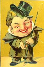 Man Top Hat Cain Francis S. Hinkle's Gold Dust Flour Victorian Trade Card F92