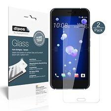 2x HTC U11 Schutzfolie - Panzerfolie 9H Folie dipos Glass Kunststoffglas