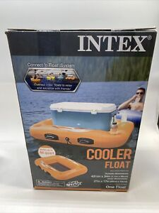 """INTEX Cooler Float Up To 48 Quart Connect & Float System 43.5"""" X 34"""" New In Box"""