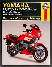 2100 Haynes Yamaha FJ, FZ, XJ & YX600 Radian (1984 - 1992) Workshop Manual