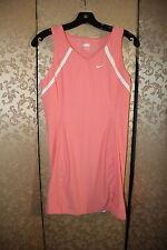 NIKE Pink Salmon White Multi-Color Tennis Dress Medium M 8 10