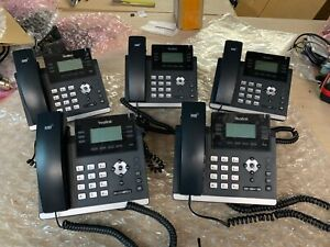 5 x Yealink SIP-T41S 10 Button Corded 6 Line PoE IP Phone LOT of 5