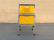 1 X 2 Locker Basket Unit in Yellow Ochre, Newly Fabricated to Order