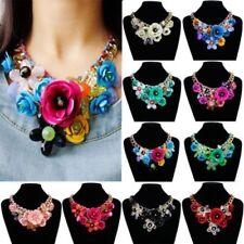 Modeschmuck-Halsketten & -Anhänger aus Acryl und Metall-Legierung mit Kristall
