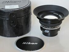 BEAUTIFUL complete Nikon Nikkor 18mm f:4 AI lens with caps/HN-15 hood case LQQK