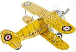 Wind Up Yellow CurtisBi- Plane Rolls and Prop