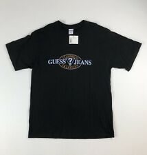 Nos Vtg Guess ? American Tradition Jeans Black T-Shirt Deadstock Nwt Made in Usa