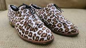 Walter Genuin Golf Shoes Women Size 39 US 8.5 Handmade in Italy