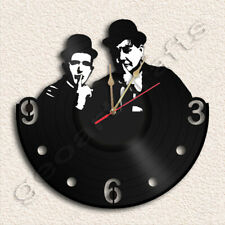 Laurel AND HARDY Vinyl Record Clock Upcycled Gift Idea