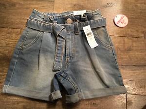 Justice Shorts 8 Slim Jean Shorts Midi With Belt NWT 8 Slim