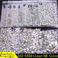 1440pcs SS3-SS50 Crystal Rhinestones Glass Flat-Back Tips Phone Nail Art Supply