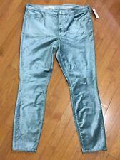 ~~ NEW! Anthropologie Velvet Skinny Jean Light Green High Rise Size 32