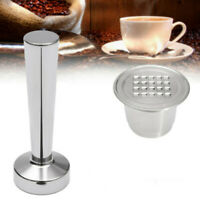 Refillable Coffee Capsule Pod Cup For Nespresso Reusable Filters Stainless Steel