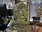 21 Sino Tibet Bronze Red Copper 24K Gold Gilt Sakyamuni shakyamuni Buddha Statue