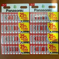 80 x AA Genuine PANASONIC Zinc Carbon Batteries - New R6 1.5V Expiry 2022