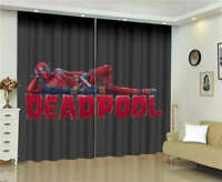 Red Armor Reclining Soldier Deadpool Printing 3D Blockout Curtains Fabric Window